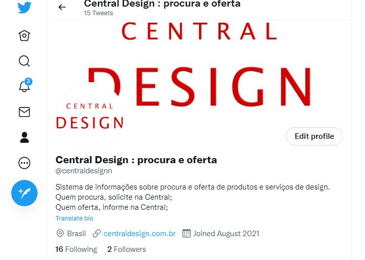 Twitter: Central Design : procura e oferta
