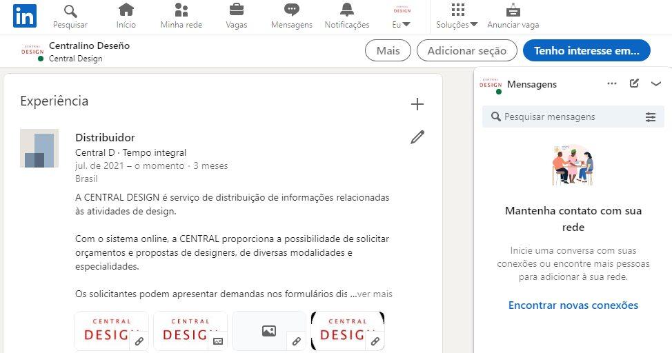 LinkedIn Central Design