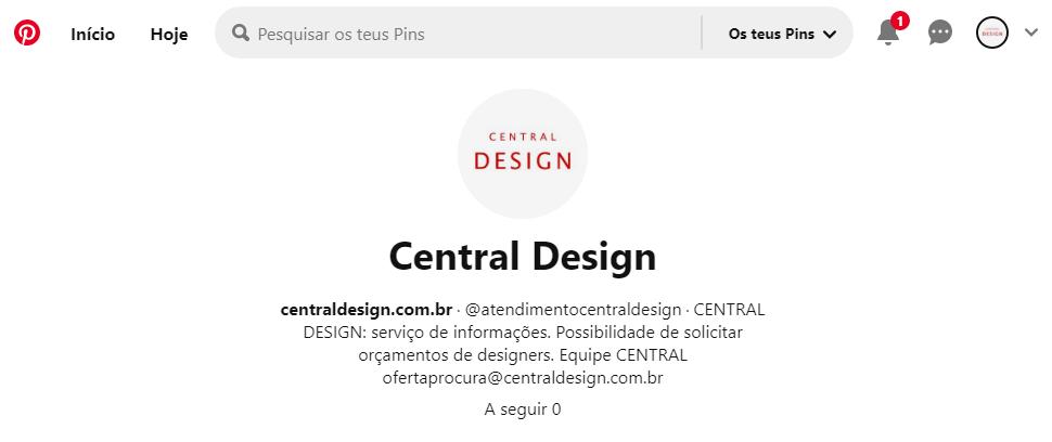Pinterest: antendimento Central Design
