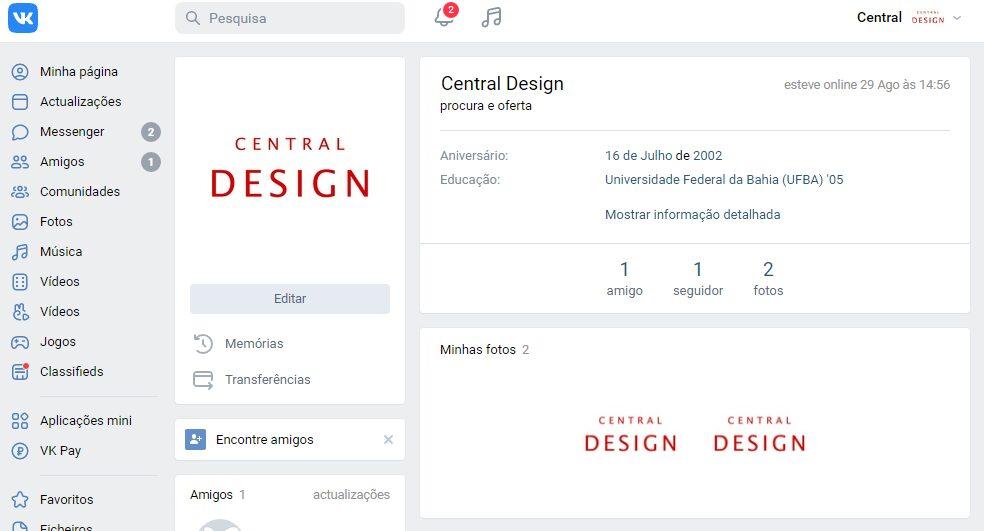 VK: Central Design